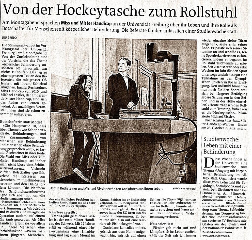 Uni Freiburg Michael Fässler und Jasmin Rechsteiner